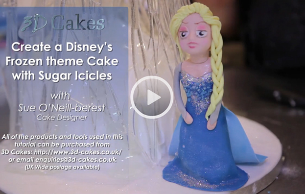Create Disney's Frozen Theme Cake with Sugar Icicles
